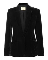 Blazer di velluto nero di L'Agence