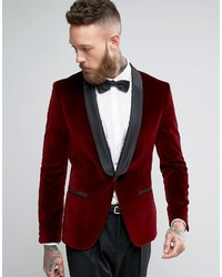Giacca uomo velluto rosso