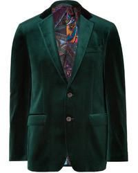 Blazer di velluto verde scuro
