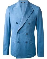 Blazer doppiopetto azzurro