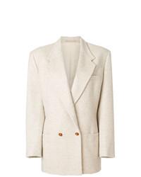 Blazer doppiopetto beige di Versace Vintage
