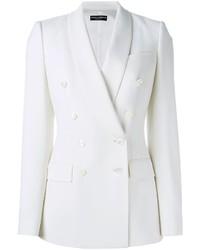 Blazer doppiopetto bianco di Dolce & Gabbana