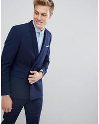 Blazer doppiopetto blu scuro di Burton Menswear