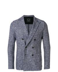Blazer doppiopetto blu di T Jacket