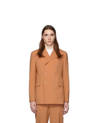 Blazer doppiopetto di lana arancione