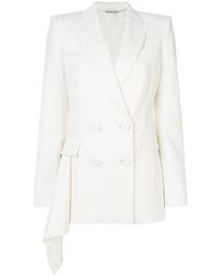 Blazer doppiopetto di lana bianco di Alexander McQueen