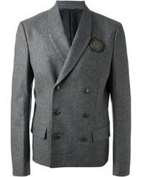 Blazer doppiopetto di lana grigio