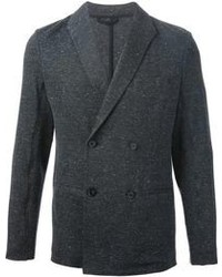 Blazer doppiopetto di lana grigio scuro