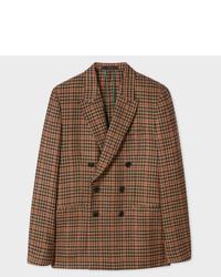 Blazer doppiopetto di lana marrone