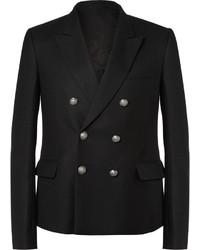 Blazer doppiopetto di lana nero
