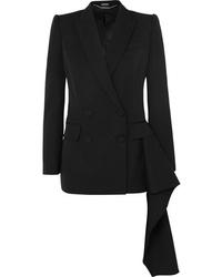 Blazer doppiopetto di lana nero di Alexander McQueen