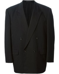 Blazer doppiopetto di lana nero di Comme des Garcons