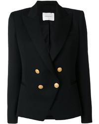 Blazer doppiopetto di lana nero di PIERRE BALMAIN