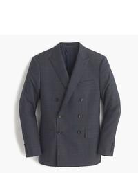 Blazer doppiopetto di lana scozzese grigio scuro