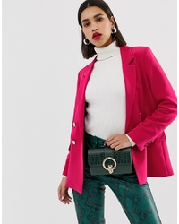 Blazer doppiopetto fucsia di Warehouse