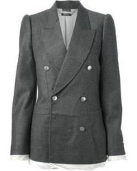 Blazer doppiopetto grigio di Alexander McQueen