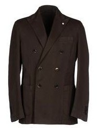 Blazer doppiopetto marrone scuro