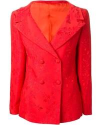 Blazer doppiopetto rosso di Versace