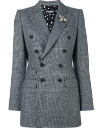 Blazer doppiopetto scozzese grigio di Dolce & Gabbana