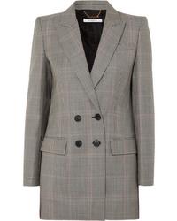 Blazer doppiopetto scozzese grigio di Givenchy