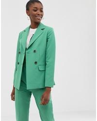 Blazer doppiopetto verde di ASOS DESIGN