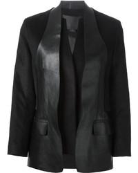 Blazer in pelle nero di Alexander Wang