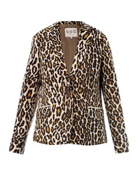 Blazer leopardato marrone chiaro
