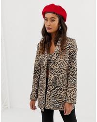 Blazer leopardato marrone chiaro di Sacred Hawk
