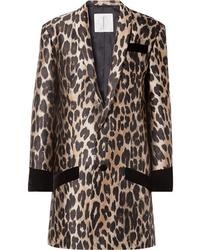 Blazer leopardato marrone chiaro di TRE by Natalie Ratabesi