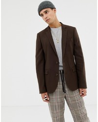 Blazer marrone scuro di ASOS DESIGN