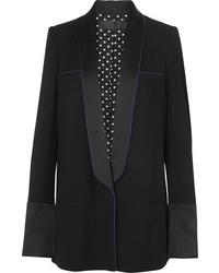 c8676b2885 Look alla moda per donna: Blazer nero, Maglione corto grigio, Jeans ...