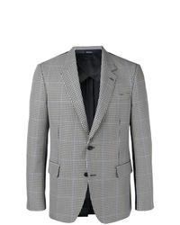 Blazer scozzese grigio di Alexander McQueen