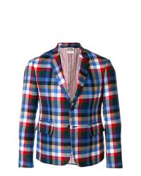 Blazer scozzese multicolore di Thom Browne