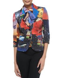 Blazer stampato multicolore