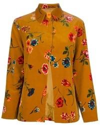Blusa abbottonata a fiori gialla