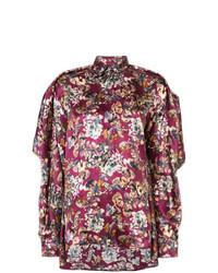 Blusa abbottonata a fiori melanzana scuro di Y/Project