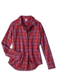 Blusa abbottonata a quadretti rossa