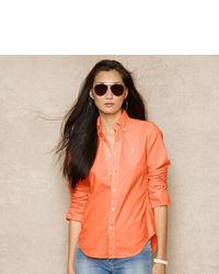 Blusa abbottonata arancione