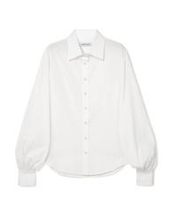 Blusa abbottonata bianca di Anna Quan