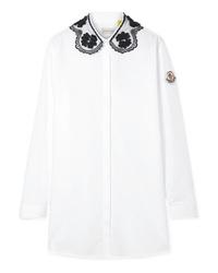 Blusa abbottonata bianca di Moncler Genius