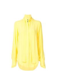 Blusa abbottonata gialla