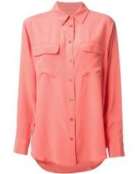 Blusa abbottonata rosa