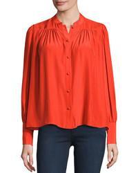 Blusa abbottonata rossa
