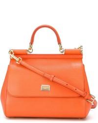 Borsa a mano in pelle arancione di Dolce & Gabbana