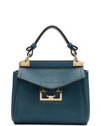 Borsa a mano in pelle blu di Givenchy