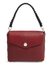 Borsa a mano in pelle bordeaux