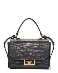 Borsa a mano in pelle grigio scuro di Givenchy