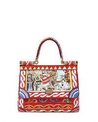 Borsa a mano in pelle multicolore