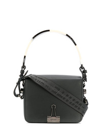 Borsa a mano in pelle nera di Off-White