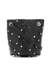 Borsa a secchiello in pelle con borchie nera di Proenza Schouler